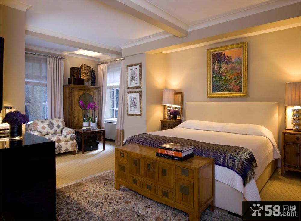 美式风格主卧室装修效果图大全2012图片图片