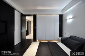 现代简约卧室整体衣柜装修效果图