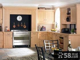 复式楼地中海风格厨房橱柜装修效果图大全2014图片