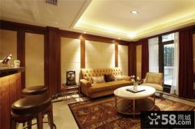 美式风格客厅装修图大全2014