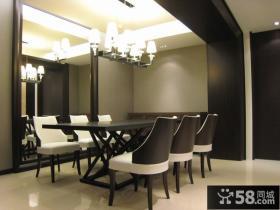 三居室简约餐厅室内装修效果图
