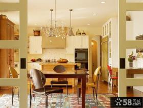 两室两厅厨房装修灯饰装修效果图