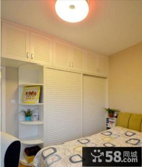 时尚家居卧室移门衣柜图片