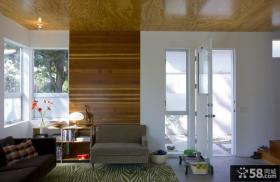 现代简约风格小户型别墅客厅玄关装修效果图