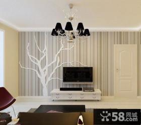 简约素雅电视机背景墙墙纸