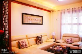 新中式客厅沙发装修效果图片