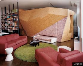 复式小客厅设计效果图