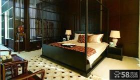 中式古典卧室别墅装修效果图大全欣赏