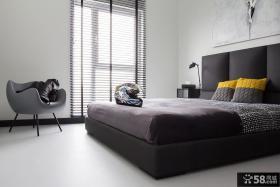 现代简约两室两厅卧室装修风格图