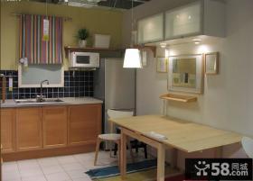 开放式厨房餐厅宜家家具图片