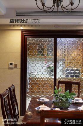 中式复式楼餐厅餐桌图片