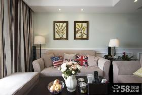 美式风格精装修客厅图片欣赏