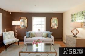 17万打造华美中式风格别墅客厅装修效果图大全2014图片