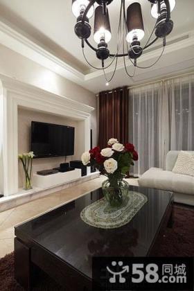 时尚现代风格客厅电视背景墙