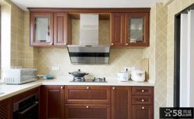 简欧厨房实木设计装饰效果图