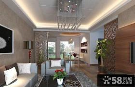 现代客厅石膏板吊顶图片