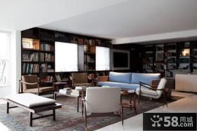 复式仿古地中海风格客厅装修效果图大全