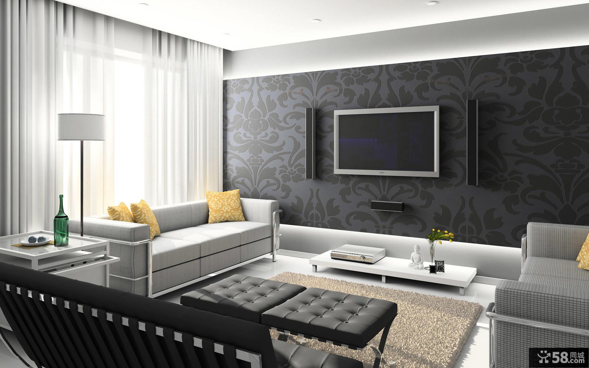 简单客厅装修效果图大全2015图片
