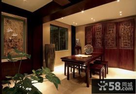 中式古典别墅书房装修效果图大全