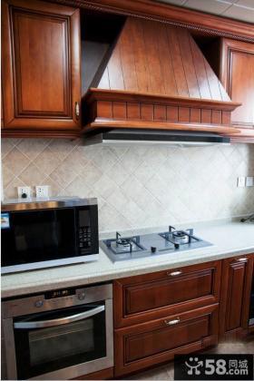 美式厨房欧派实木橱柜图片大全