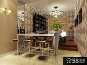 两室两厅装修餐厅吧台设计图片