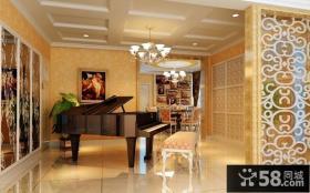 欧式古典客厅隔断装修设计
