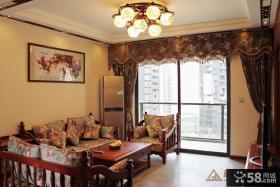 中式风格客厅吊顶装饰效果图大全2013图片