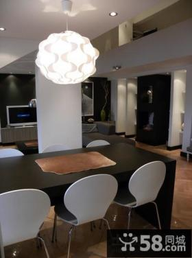 80平米小户型餐厅吊灯装修效果图