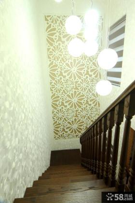 复式楼楼梯间装饰效果图欣赏