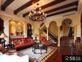 乡村复古欧式风格别墅室内设计图片