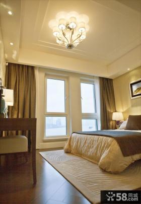 现代卧室灯具装修效果图