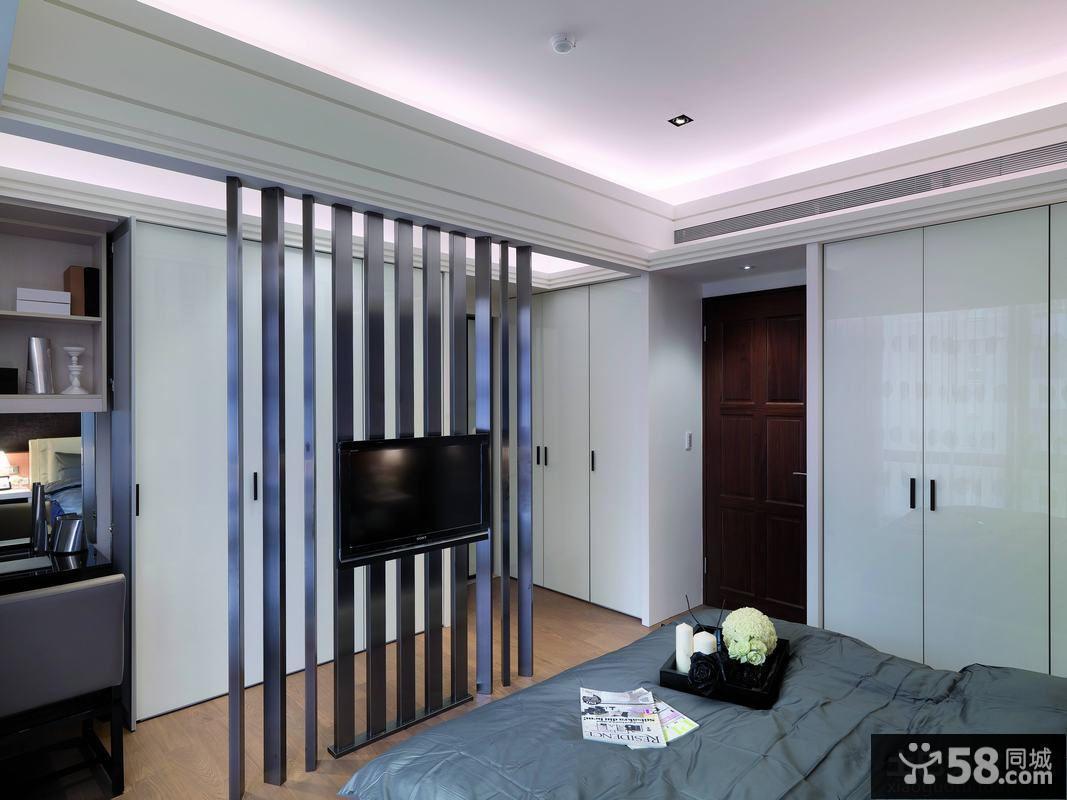 卧室创意电视隔断墙装修设计