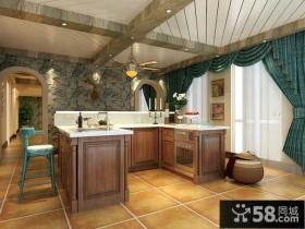 美式地中海风格厨房图片欣赏