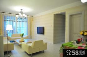 简单时尚客厅电视背景墙设计
