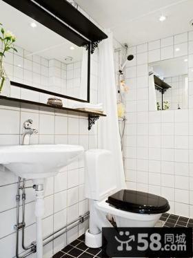 22平米复式楼打造一个舒适的卫生间图片