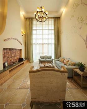 复古美式风格装修别墅室内图片欣赏