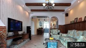 美式风格一室一厅家居客厅设计2014