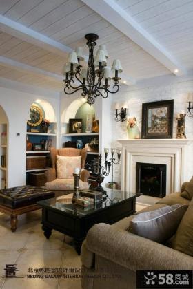 欧式风格客厅木质吊顶装修效果图欣赏