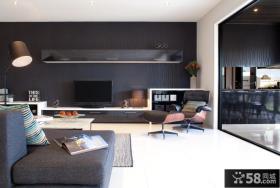 现代风格电视背景墙设计图片