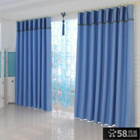 地中海风格阳台窗帘装修效果图