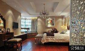 欧式设计卧室飘窗图片大全