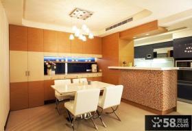 现代简约风格厨房餐厅装修图片