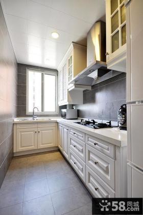 简欧式厨房装修效果图大全2014图片