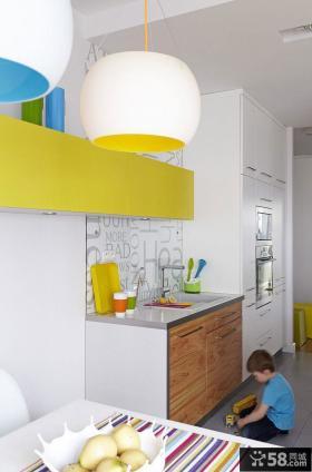波兰90平米现代风格客厅活力彩色空间设计
