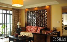 典雅复古中式客厅布置装潢