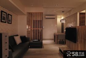 日式装修小户型客厅电视背景墙