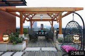 别墅顶层露天阳台效果图片