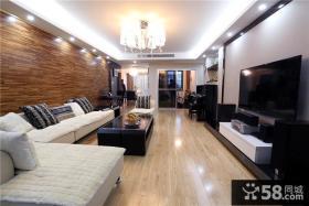 2015后现代设计客厅电视背景墙欣赏