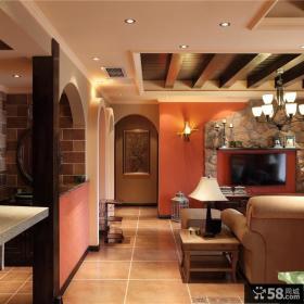 126平美式风格过道家居设计装修效果图