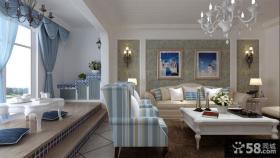 地中海风格客厅阳台设计图片